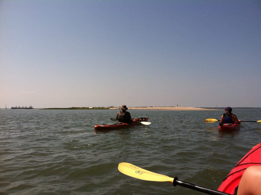 kayaking in Charleston